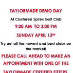 Taylor Made Demo Day – April 13th